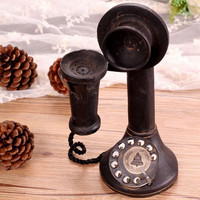 Style Home Decor Vintage Weathered Decoration Phone [6283579910]