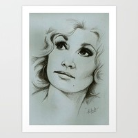 Dolly Parton Art Print by Talula Christian