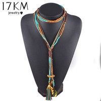 2016 New Arrival Facet Beads Necklace Multi layer Long Statement Necklaces Jewelry For Women Collares Collier joyas Accessories