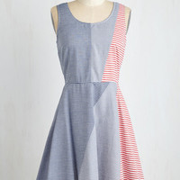 Americana Mid-length Sleeveless A-line Belle of the Barbecue Dress