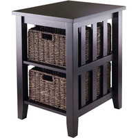 Walmart: Morris End Table with 2 Baskets, Espresso