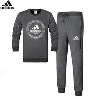 ADIDAS autumn and winter new trend sports and leisure men's sportswear two-piece Grey