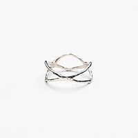 Lio and Linn Womens Sanctuary Midi Ring - Silver 4