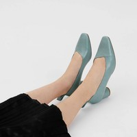 Green Asymmetrical Topline Pumps | CHARLES & KEITH