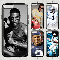 Cam Newton signed NFL star fashion original cell phone case cover for iphone 6 (4.7 inch) protection back cover