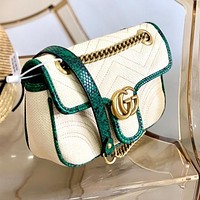 GUCCI New Stylish Women Shopping Bag Leather Crossbody Satchel Shoulder Bag