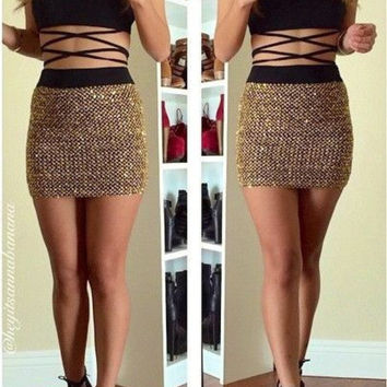 Lumier Loved Sequin Skirt (more colors)