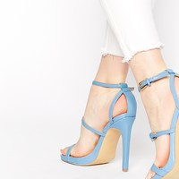 Head Over Heels By Dune Mermaide Blue Barely There Heeled Sandals
