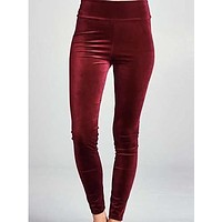 Velvet Vixen Leggings | Red