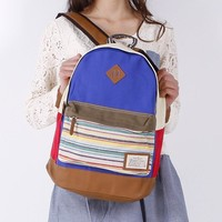 College Casual Hot Deal Stylish Comfort Back To School On Sale Stripes Canvas Nose Backpack [8958081287]