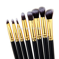 8PCS Makeup Brushes Cosmetics Eyeshadow Eyeliner Brush Kit Set Wooden