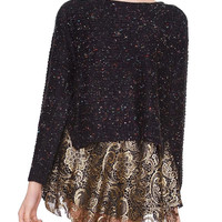 Open Mind Sweater Top - Black