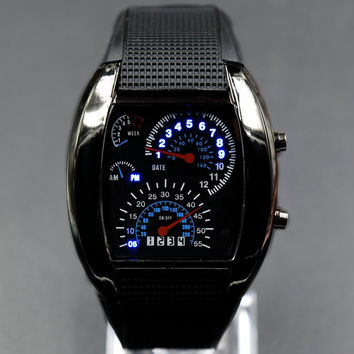 Electronic Fashion Silicone LED Men Dial Stylish Watch = 5861529281