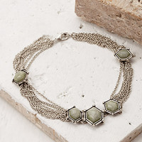 Faux Stone Draped Chain Anklet