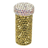 Crystal Pill Bottle in Gold