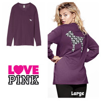 Oversized Campus Long Sleeve Tee Large (new in package)