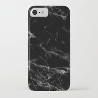 Black Marble iPhone & iPod Case by New Wave Studio