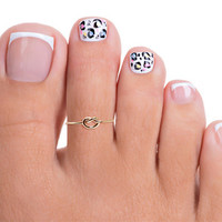 Gold Filled Knot Toe Ring, Gold Knot Adjustable Toe Ring, Thin Gold Toe Ring, Gold Pinkie Ring