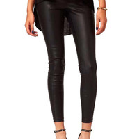 Faux Leather Splicing Pants