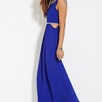 Beaded Cutout Maxi Dress