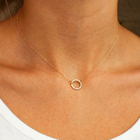 Hammered Ring Necklace
