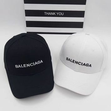 Balenciaga Woman Men Fashion Embroidery Adjustable Baseball Cap Hat Sport Cap