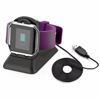 Ktab Fitbit Blaze Charger Stand Charging Dock Station Accessories with Cell Phone Stand  Desktop Station for Fitbit Blaze