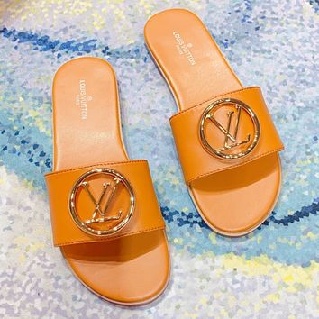 Louis vuttion classic flat slippers