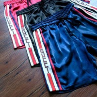 "GUCCI "" Like Fashion Print Exercise Fitness Gym Yoga Running Shorts"