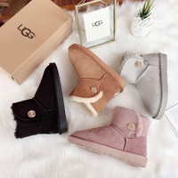 UGG Mini Bailey Boot with metal crystal Button