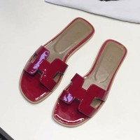 Hermes Women Fashion Slippers Sandals Shoes