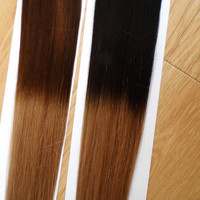 "18"" 20"" dip dye OMBRE CLIP IN Indian Remy human hair extensions 120g=10pcs set STOCK 1BT18 1BT22 1BT24 1BT27 1BT613 1BT33 1BT99J"