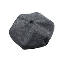 Nanxson(TM) Romantic Women Wool Beret Cap Hat MZW0037 (dark grey)