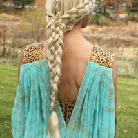 Braided Khaleesi Wig - Funeral, Red Waste, or Qarth Braid - Game of Thrones Daenerys Targaryen custom styled platinum pale blonde lace front