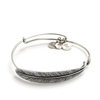 Alex and Ani Quill Feather Wrap - Russian Silver