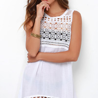 Hazel Sweet Disbelief Ivory Lace Cover-Up