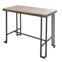 Roman Industrial Counter Table Black / Brown Wood