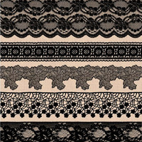 Black Lace Border Clip Art. Wedding Lace Clipart. Shabby, Rustic Lace Overlays. Bridal Shower, Wedding Clipart. Vintage Black Seamless Lace.
