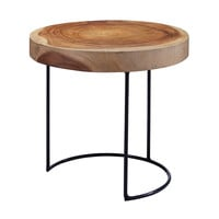 Lazy Susan Suar Wood Slab Table - 159-008