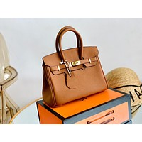 Hermes Newest Popular Women Leather Handbag Tote Crossbody Shoulder Bag Satchel 25CM