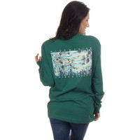 Lauren James Long Sleeve Tee- Rise and Shine- Evergreen