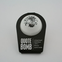 Quote Bomb, Bath Bomb, Bath Fizzer, Bath Fizzy, Bath Fizzie, Spa, Bath and Body, Fresh Basil, Famous Quotes,