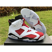 "Air Jordan 6 Retro ""Carmine"" Basketball Shoes 36-47"