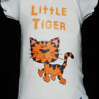 """Baby Onsie, Toddler Tee, Free Shipping, """"Tiger"""", White, Baby, Toddler, Graphic Design, Baby Shower, Baby Gift, Cute Onsie, Unisex, Clothing"""