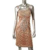 Sue Wong Womens Embellished Prom Semi-Formal Dress
