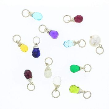 Silver Natural Birthstone Charms