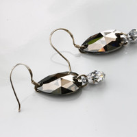 Swarovski Elements. Statement Earrings Minimalist Trend Sparkle with their Beauty, Glamour and Elegance for Mother of the Bride, or Bridal