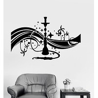 Vinyl Wall Decal Hookah Shisha Bar Arabic Decor Smoking Stickers Mural Unique Gift (037ig)