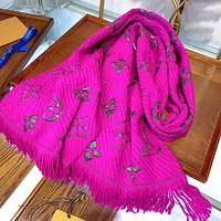lv louis vuitton fashion men women letter print cashmere scarf scarves 9 7