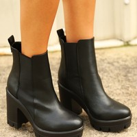 Fight For Love Booties: Black